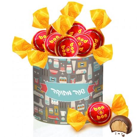 קופסת ממתקים ממותגת בון בון