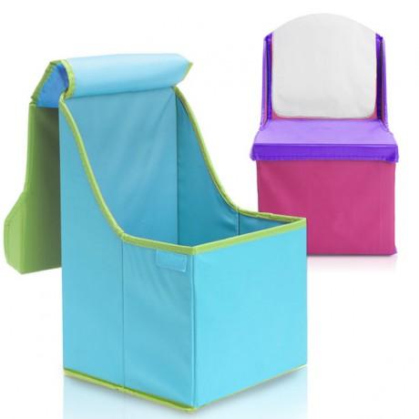 כסא ממותג לילדים עם מקום אחסון