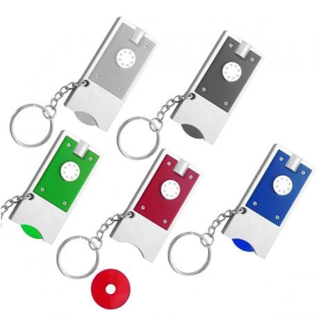 מחזיק מפתחות פנס עם מטבע לעגלה