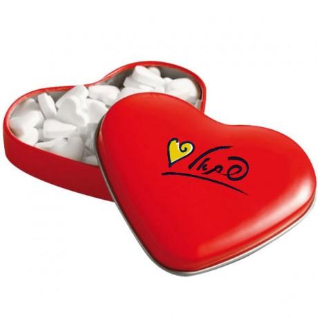 קופסת סוכריות לב ממותגת