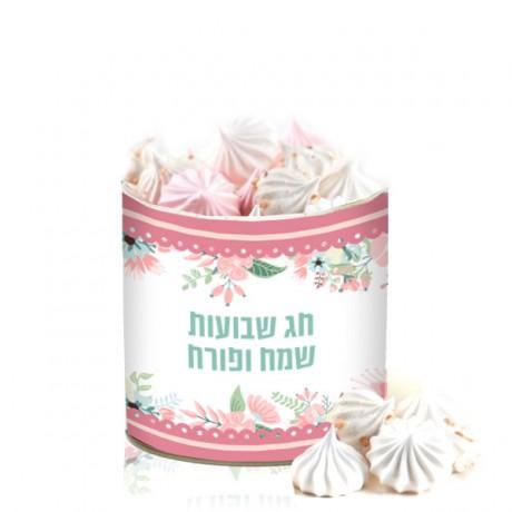 קופסת ממתקים ממותגת - נשיקות מרנג