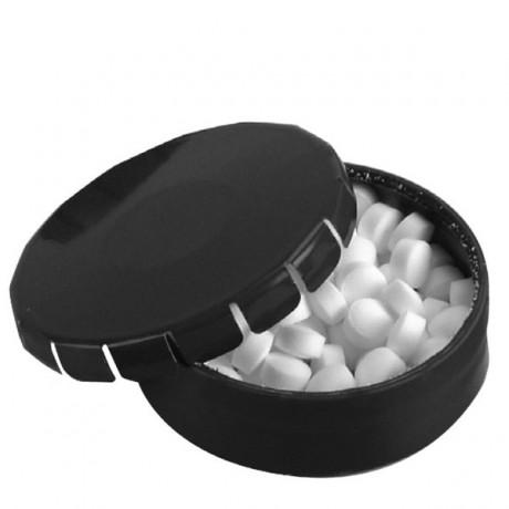 קופסת פח ממותגת עם סוכריות מנטה